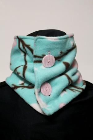 Neck Warmer Fleece Bird and Flower by TheCozyAvenue on Etsy, $14.99 by della