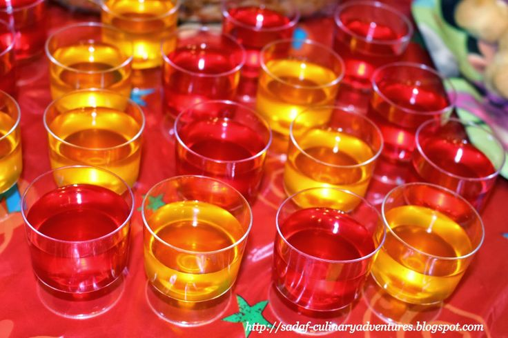 Minnie Jello Cups in colors matching the theme