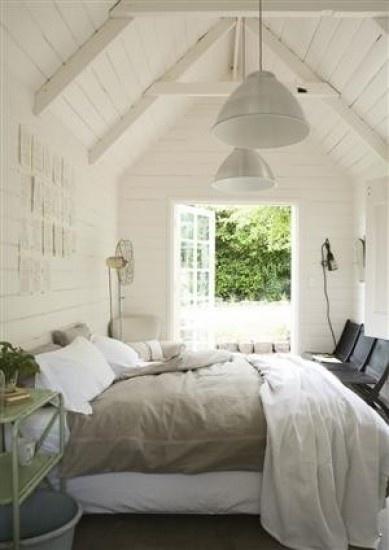 mooie combinatie van wit en linnen