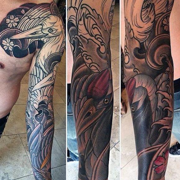 40 Japanese Crane Tattoo Designs For Men Bird Ink Ideas Tattoo