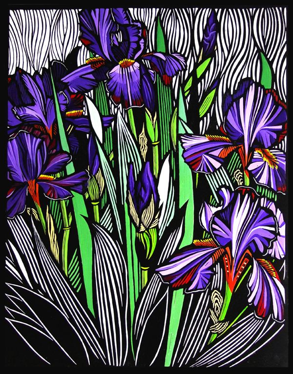 Gail Kellett This piece is wonderful! High contrast, repetition and colour