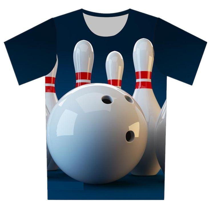 Новые 2016 детей 3D майка мультфильм футболу теннис шар для боулинга печать прохладный футболка девочка мальчик свободного покроя с коротким рукавом майки топы купить на AliExpress