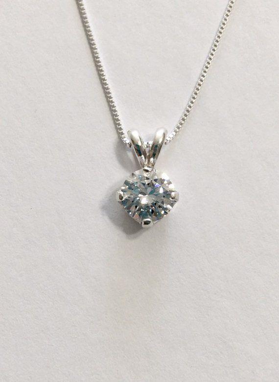 Imitation Diamond Solitaire Necklace Faux Diamond Necklace Etsy Faux Diamonds Diamond Diamond Solitaire Necklace
