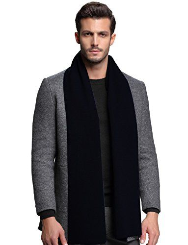 Men Cashmere Scarf Winter Scarves by FULLRON  Warm / Long Black Scarf for Men