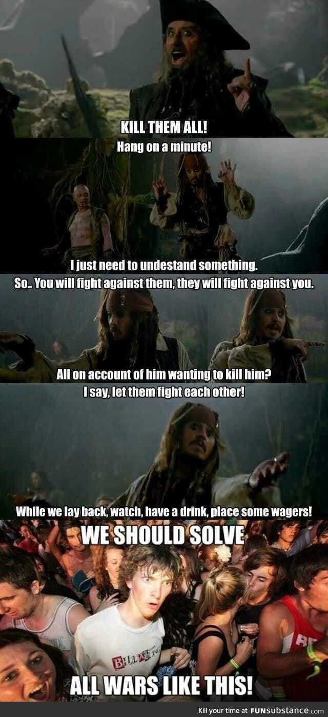 Simple Solution For A Possible Ww3 Jack Sparrow Quotes Pirates Of The Caribbean Captain Jack Sparrow Quotes