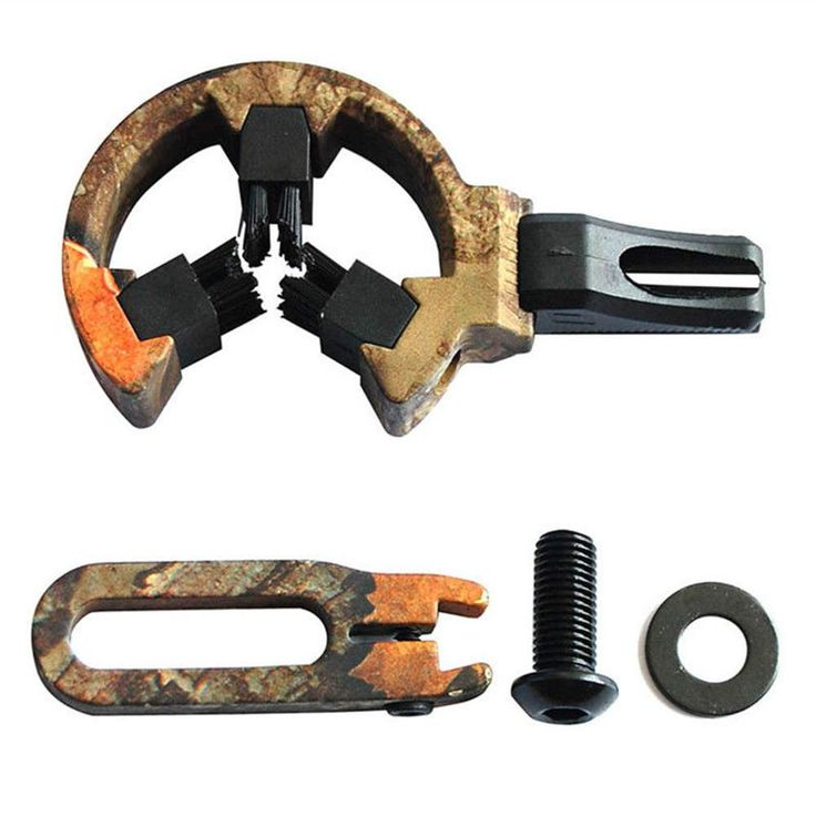 Camo Hunting Archery Brush Capture Arrow Rest Right Left Hand for Compound Bow t with 3 Brushes Accessories