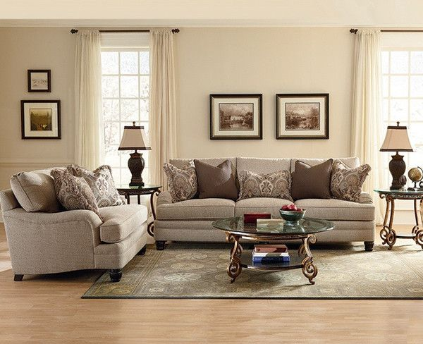 This Bernhardt sofa would look perfect in a traditional living room with just a little bit of glam.