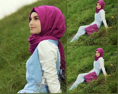 Casual hijab style.