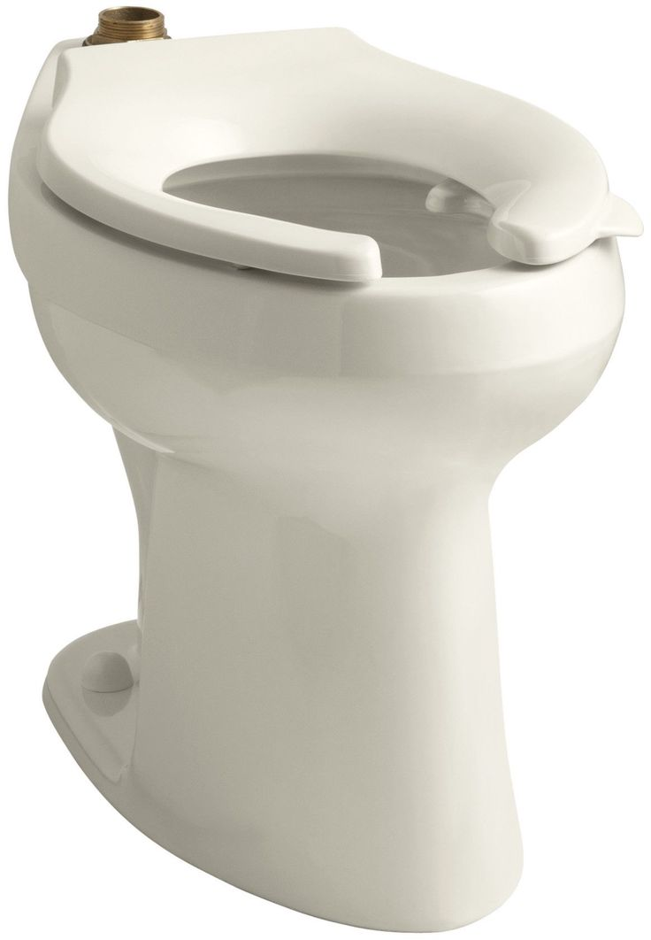 Highline 1.6 or 1.28 GPF Flushometer Valve Comfort Height Ada Elongated Toilet Bowl with Bedpan Lugs, Requires Seat