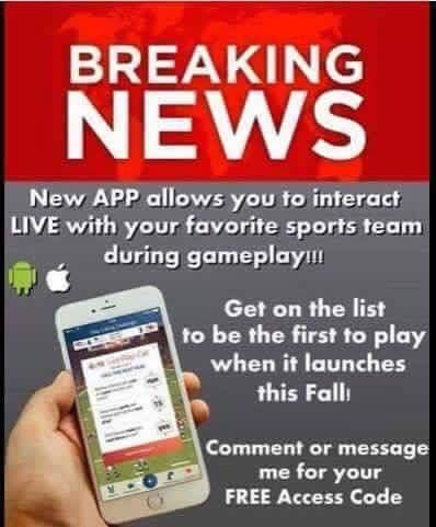 Get code to be an affiliate of a billion dollar global app before it is too late! This opportunity is ending soon⚽️⚾️