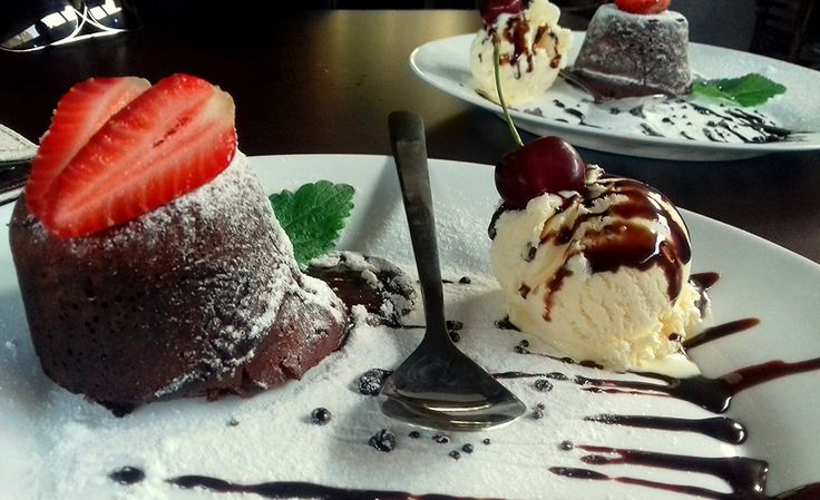 This lava cake (hot and cold) dessert is so rich, chocolatey, moist, and very delicious. The hot and cold combination is quite refreshing and it fit
