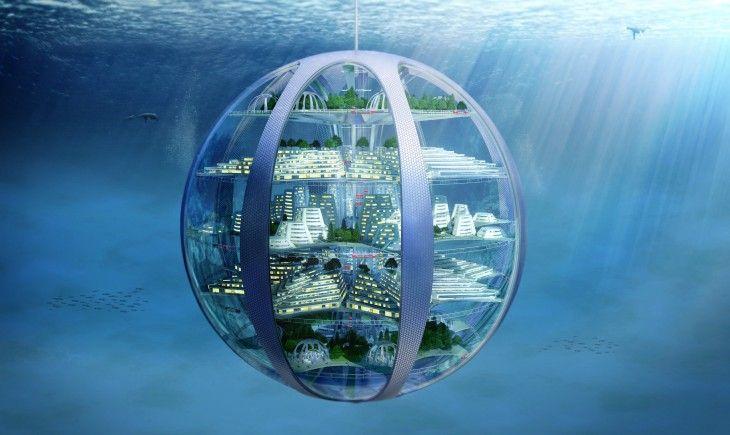 Asi Sera El Mundo Dentro De 100 Anos Ciudad Submarina Ciudad Futurista Arquitectura Futurista