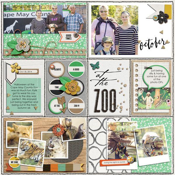 Project Life layout using Templates: Helper Grids by Amy Martin Designs #amymartindesigns