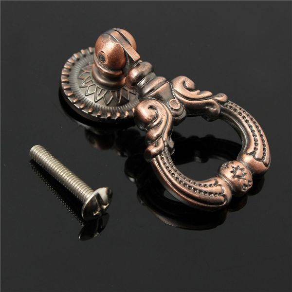 Tirador para puerta de armario de muebles bronce antiguo tirador de anillo pomos de bronce