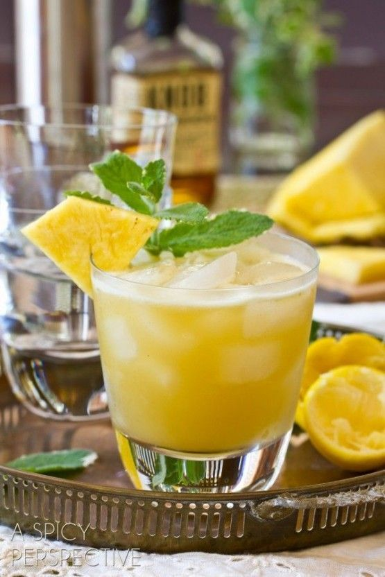 Pineapple Mint Whiskey Sour