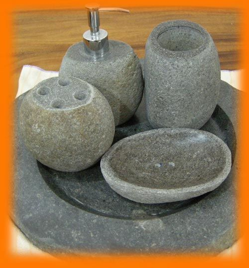 natural stone bathroom sink accessories dispensers and sets for sale made from granite river rocks and marble for home and hotel