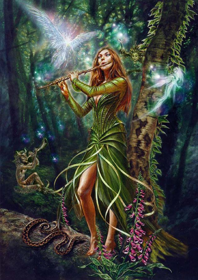 Faerie Magick Reel Card by Briar Fairy Music Woodland Fae and Pan Greeting Card