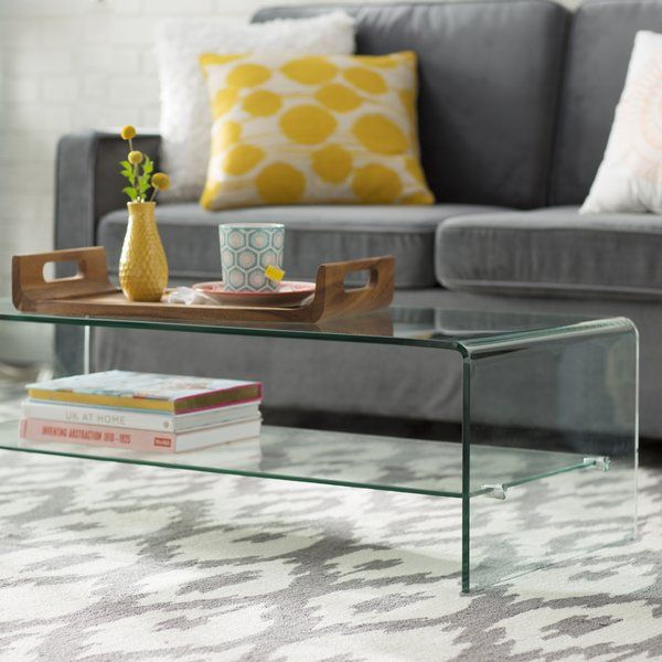 Artemon Trestle Coffee Table Coffee Table Modern Glass Coffee Table Coffee Table With Shelf