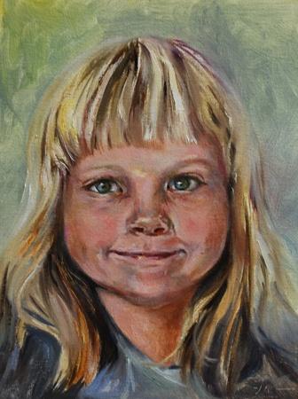 Kinder portretten | Olieverf Schilderen.nl