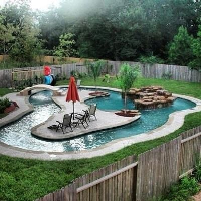 What a cool pool like a lazy river home pools hoot for Cool pool house ideas