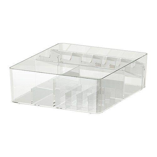 GODMORGON Kasten mit Fächern IKEA Inklusive 10 Jahre Garantie. Mehr darüber in der Garantiebroschüre. Erleichtert das Ordnen von Schmuck und Kosmetik.