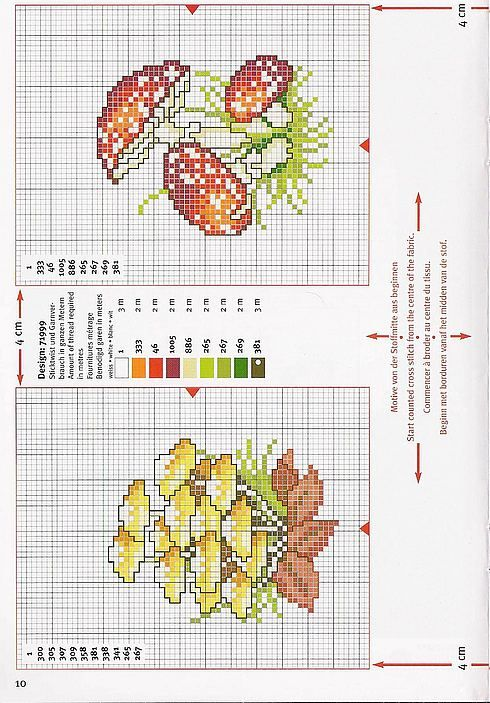 Punto croce - Schemi Gratis e Tutorial: Tanti funghi a punto croce