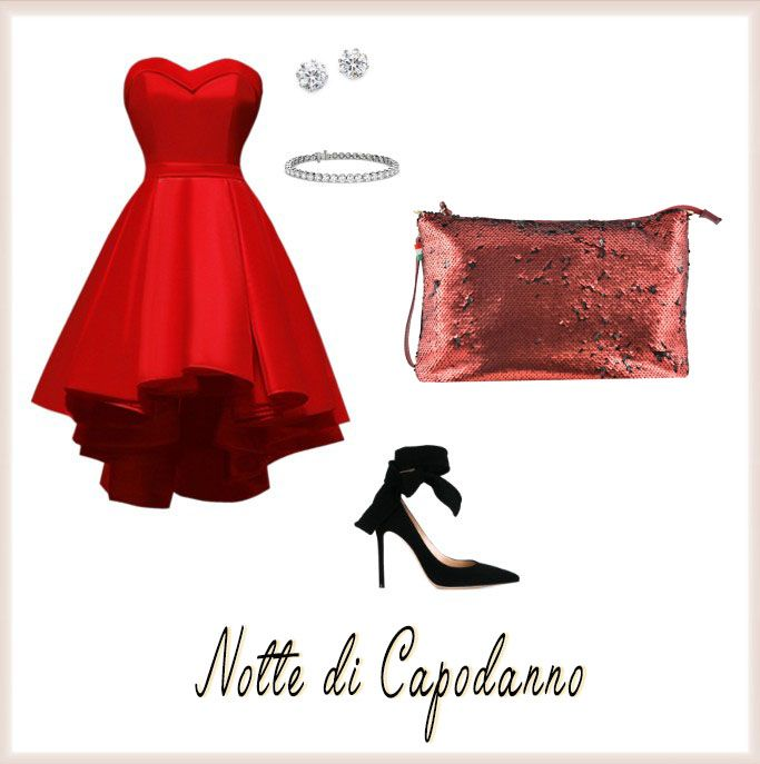 #WhatToWear at New Year's Eve: a super chic red dress and a sparkle purse #NewYear'sEve #sparklepurse #reddress