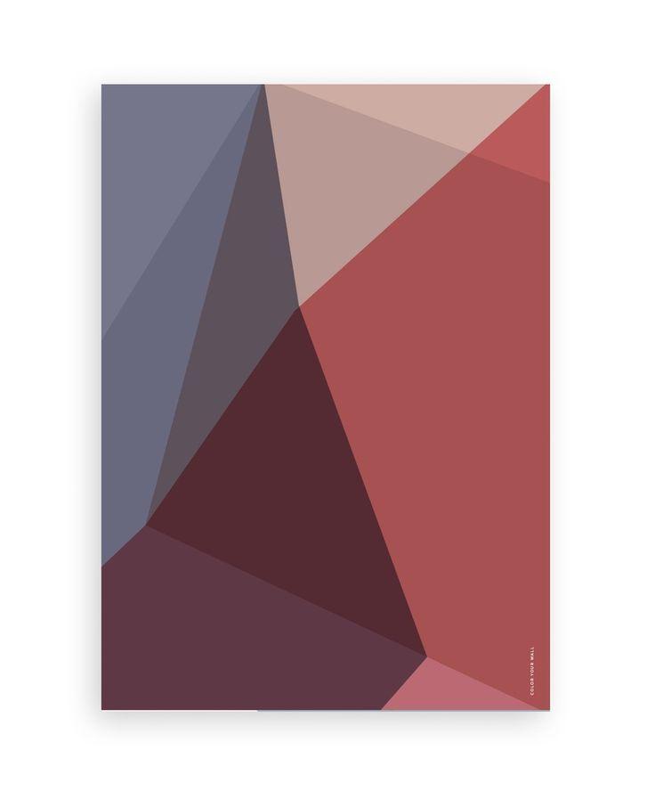 By Vogt Graphic Posters - scandinavian design - Gradient - Marsala color