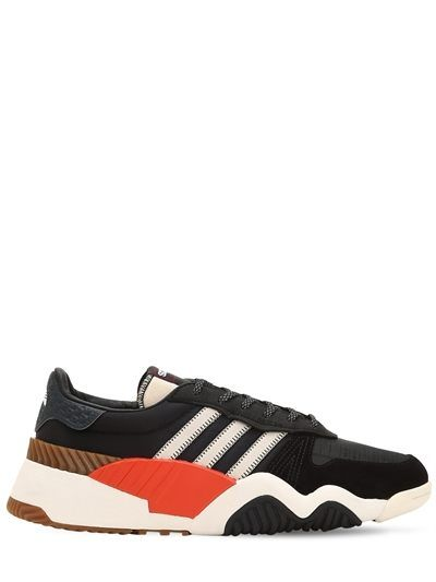 huge discount a8c12 e0405 ... discount code for adidas originals by alexander wang aw product details  mesh sneakers black orange luisaviaroma