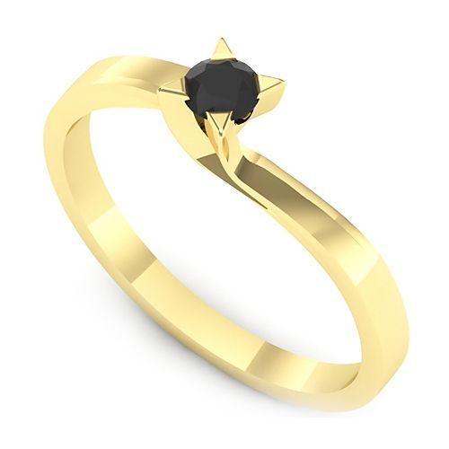 Inel logodna L28GDN Inel cu diamant negru