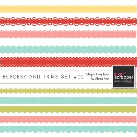 Borders And Trims Set #02 Shape Templates by Sheila Reid:)
