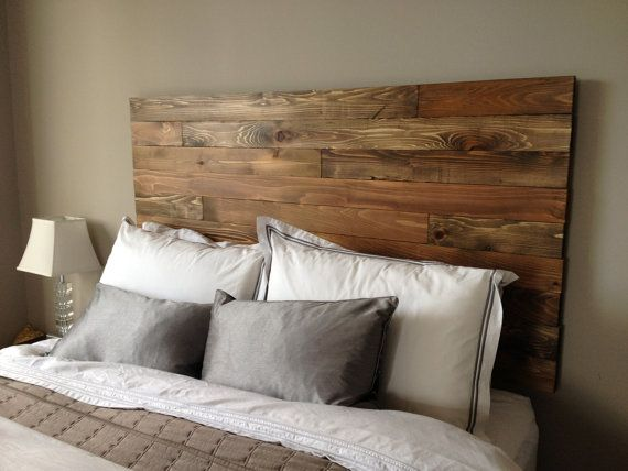 homemade wooden headboard 2
