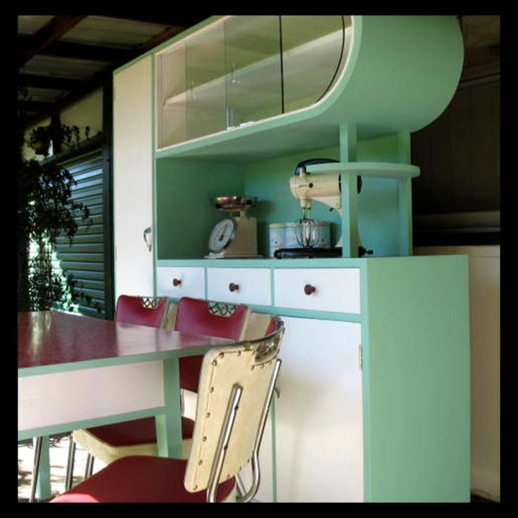 1950s Kitchen The Shape Is Kind Of Weird But This Is
