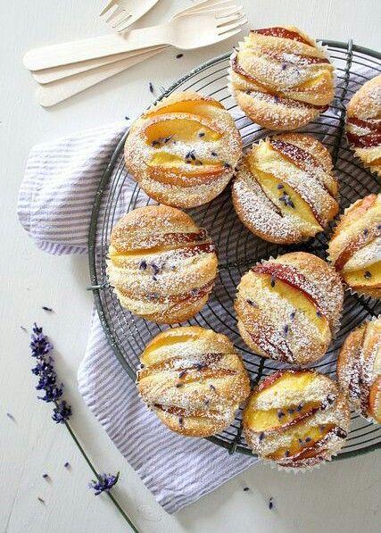 Lavender-apricot muffins