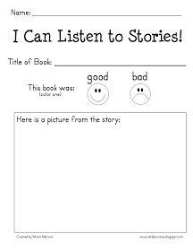 Kinder-Craze: A Kindergarten Blog: mp3 Listening Center and Reading Response Form - FREEBIE!