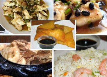 Menú Especial para 3A $26.900 2 Camarón Mandarín 1 Tepanyaki Surtido 1 Pollo Tausí 1 Pollo en Salsa Ostra 3 Arroz Chaufán Especial
