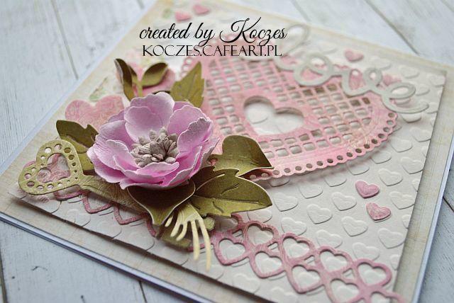 Craft and You Design: A Valentine card/Kartka walentynkowa by Koczes