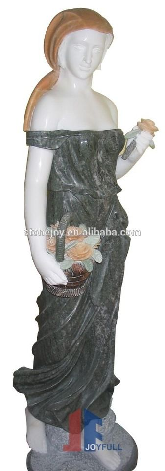Lady Marble Carving, Stone Figure Statue, Life-size marble statue