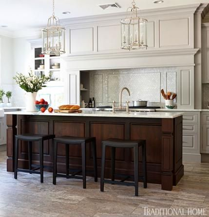 Organized Efficient Kitchen With Cool And Classic Styling Traditional Home
