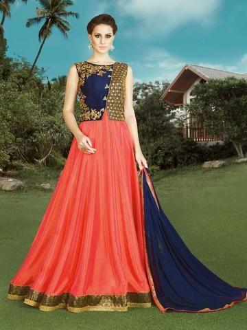 Fuchsia Color Raw Silk Dress Material - 1028