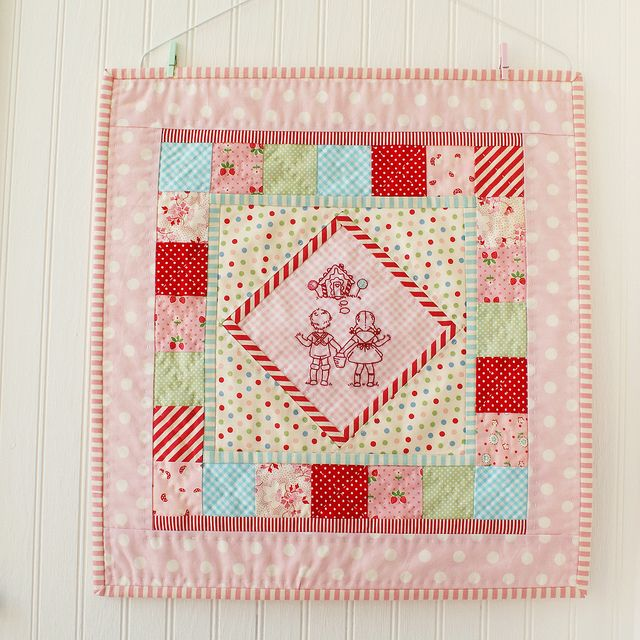 "adorable ""hansel & gretel"" mini quilt by nana company"