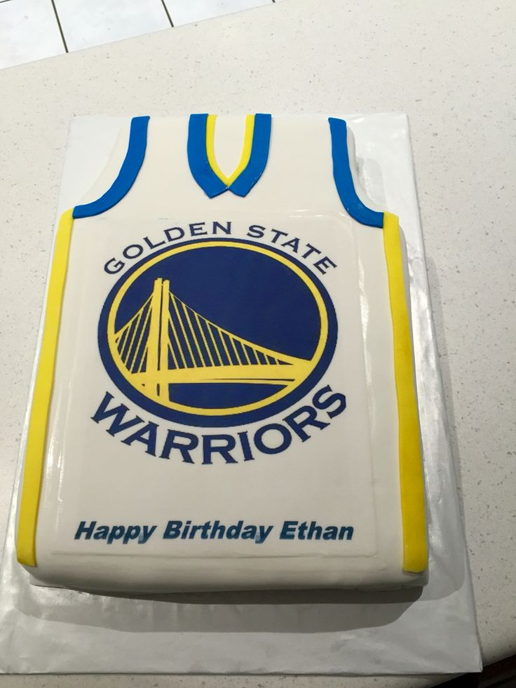 #Golden state warriors cake #basketball jersey cake | Cakes | Pinterest | Cake, Birthdays and ...