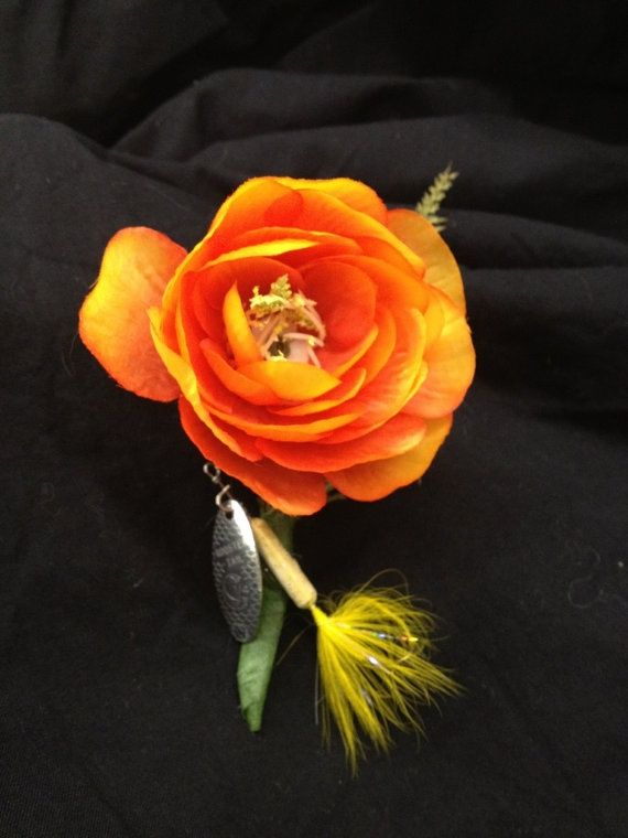 fishing lures as boutineers | Fishing Lure boutonniere by Pinktwigwedding on ... | I DO want This A ...