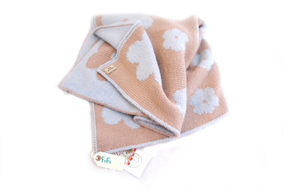 BLANKET FIFI BASIC large blanket for babies by ZOODILANA on Etsy, €110.00