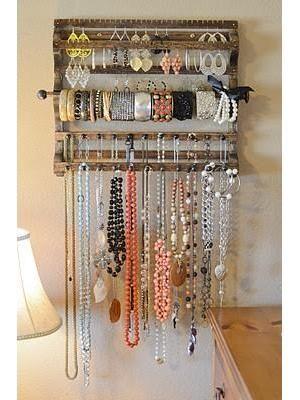 ideias geniais para guardar as bijuterias