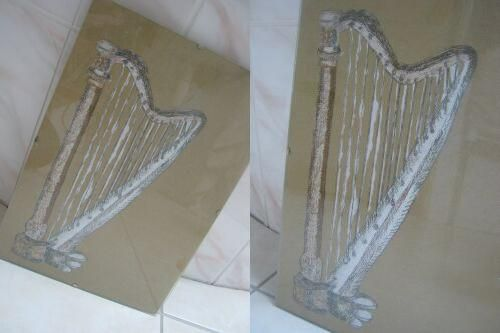 harp painted in tempera