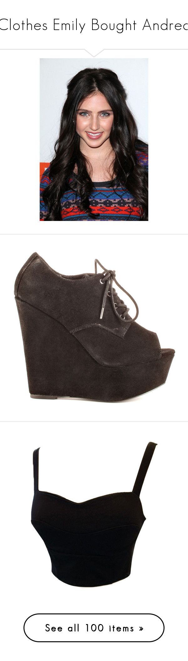 """""""Clothes Emily Bought Andrea"""" by darlingzombie ❤ liked on Polyvore featuring shoes, boots, ankle booties, heels, black, lace up platform booties, black wedge booties, black ankle boots, lace up wedge bootie and wedge heel booties"""