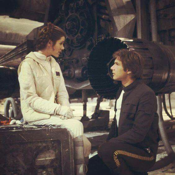 Han and Leia. Empire, behind.