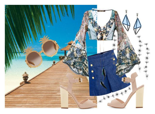 Summer mood by christina-geo on Polyvore featuring Roberto Cavalli, CO, Giuseppe Zanotti, Issey Miyake and Gucci
