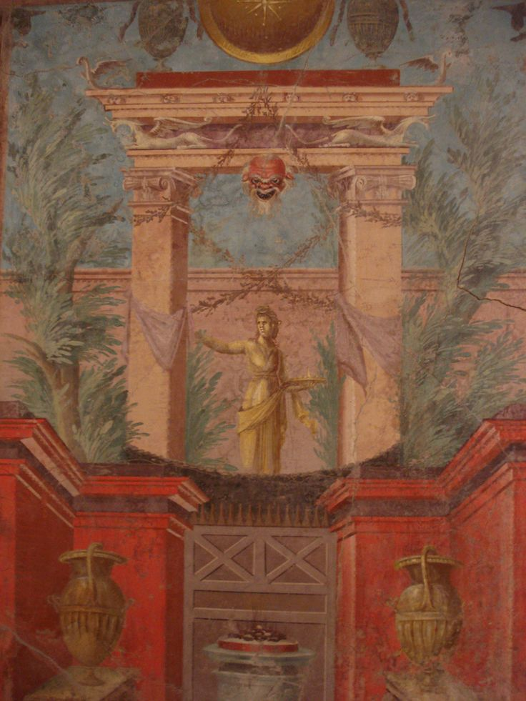 Fresco from the cubiculum of the Villa of Publius Fannius Systor, Boscoreale. Artist unknown; ca. 50-40 BCE. Now in the Metropolitan Museum of Art. Photo credit: Metropolitan Museum of Art/Wikipedia...